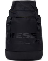 DIESEL - Black F-suse Backpack - Lyst
