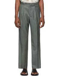 Jacquemus Pantalon vert Le Pantalon Yvan