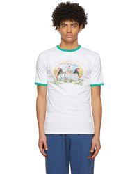 CASABLANCA ホワイト T シャツ