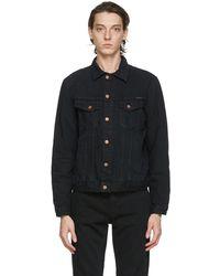 Nudie Jeans ブラック デニム Bobby ジャケット