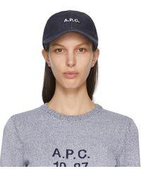 A.P.C. インディゴ Charlie デニム キャップ - ブルー