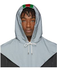 Gucci Silver Reflective Hood - Gray