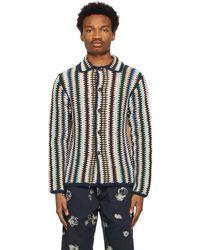 WOOD WOOD マルチカラー Crochet Calvin カーディガン
