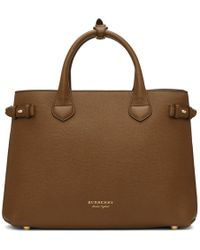 Burberry - Brown And Tan Medium Banner Tote - Lyst