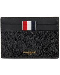 Thom Browne - Porte-cartes noir Note Compartment, exclusivite en ligne - Lyst