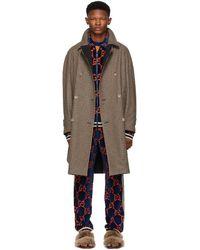 Gucci Reversible Brown Wool Plaid Hunting Coat