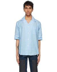 Youths in Balaclava Blue Pyjama Short Sleeve Shirt