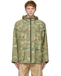 Sankuanz Reversible Khaki & Brown Camo Hooded Jacket - Green