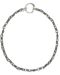 Maison Margiela - Silver Fastener Necklace - Lyst