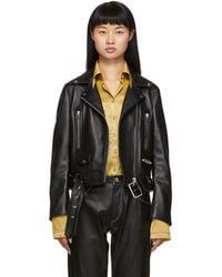Acne Studios - Black Leather Mock Jacket - Lyst