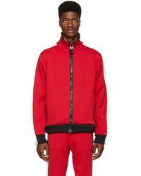 Miharayasuhiro - Red Enlarged Zip Track Jacket - Lyst