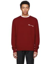 Rag & Bone - Red Have A Nice Day Victor Pullover - Lyst