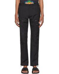 Versace - Black Zip Cargo Pants - Lyst