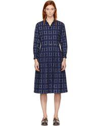 Blue Blue Japan - Indigo Button-up Dress - Lyst