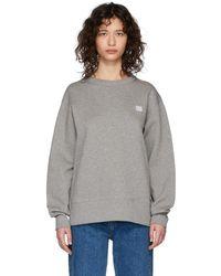 Acne Studios Grey Fairview Patch Sweatshirt