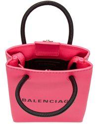 Balenciaga - ピンク ショッピング フォン ホルダー バッグ - Lyst