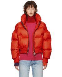 Ienki Ienki - Red Down Cropped Poodle Jacket - Lyst
