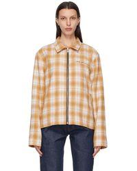 Noon Goons Brown Check Anderson Jacket - Multicolour