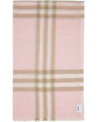 Burberry ピンク チェック スカーフ