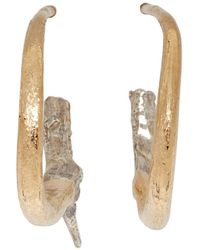 Pearls Before Swine - Gold And Silver Small Thorn Hoop Earrings - Lyst