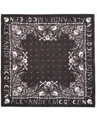 Alexander McQueen - Black Skull Bandana - Lyst