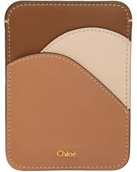 Chloé ブラウン & ピンク Walden カード ケース
