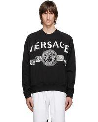 Versace ブラック Vintage Medusa カレッジ スウェットシャツ