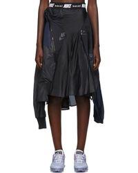 Nike Sacai Edition ブラック And ネイビー W Nrg Ga Ni-03 スカート