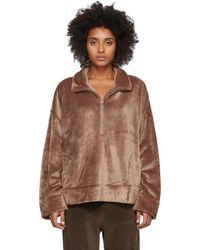 Skin ブラウン Wendy ジップアップ セーター