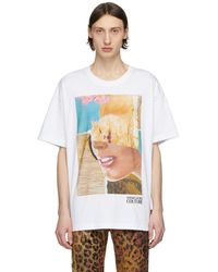 Versace Jeans - Rosa Burgess Edition ホワイト プリント T シャツ - Lyst