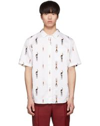 Thom Browne - White Swimmer Short Sleeve Shirt - Lyst