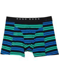 BOSS by Hugo Boss ブラック And ブルー ストライプ ボクサー ブリーフ 2 枚セット - マルチカラー