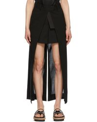 Sacai ブラック Open Face Suiting Trouser ショーツ