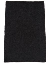 Isabel Benenato グレー ヤク カラー スカーフ - ブラック