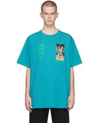 Off-White c/o Virgil Abloh - ブルー Pascal Painting Over T シャツ - Lyst