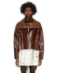 Givenchy ブラウン クロコ クロップド ウインドブレーカー ジャケット