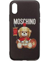 Moschino ブラック ローマン テディ ベア Iphone Xs Case