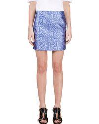 Richard Nicoll - Blue Python Jacquard Mini Skirt - Lyst