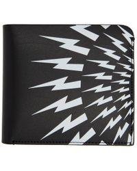 Neil Barrett - Black And White Lightning Bolt Wallet - Lyst