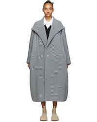 Issey Miyake Gray Bubble Coat