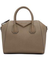 Givenchy - Beige Small Antigona Bag - Lyst