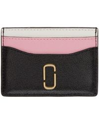 Marc Jacobs - Black And Pink Card Holder - Lyst