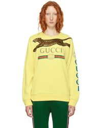 1d9cdc174eb Gucci Print Embroidered Spaceship Sweater In Red in Red - Lyst