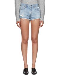 Citizens of Humanity - Blue Danielle Cut-off Shorts - Lyst