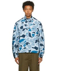 BBCICECREAM Blouson léger bleu à motif camouflage