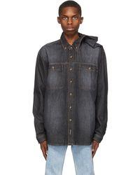 Y. Project ブラック Clip Shoulder シャツ