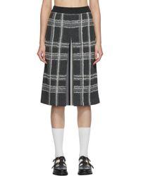 Thom Browne グレー チェック ペンシル スカート