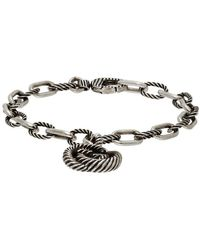 Gucci Silver Interlocking G Bracelet - Metallic