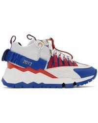 Pierre Hardy Baskets blanches et bleues VC1 edition Victor Cruz