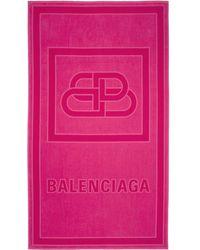 Balenciaga ピンク Bb ビーチ タオル